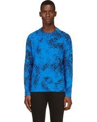 Pierre Balmain Blue Cotton Animal Print T_shirt - Lyst