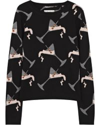 Alice + Olivia Allover Martini Wool Knit Sweater - Lyst