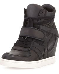 4c49bbb20711 Ash - Cool Ter Leather Wedge Sneakers - Lyst
