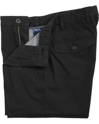 Canali Stretch Textured Cotton Bermuda Shorts black - Lyst