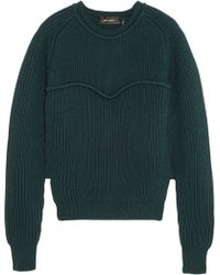 Isabel Marant Nils Ribbed-knit Wool Sweater - Lyst