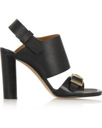 Chloé Buckled Leather Sandals - Lyst