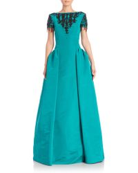Oscar de la Renta | Embellished Bateau Gown | Lyst