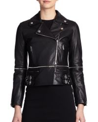 Christopher Kane Convertible Leather Biker Jacket - Lyst