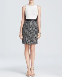4.collective Dress - Chelsea Sleeveless Printed Tweed Sheath - Lyst