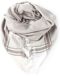 Gucci Frayed Woven Scarf - Lyst