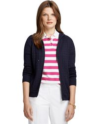 Brooks Brothers - Sea Island Cotton Cable Hoodie - Lyst