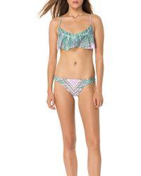 Mara Hoffman Cropped Bikini Top - Lyst