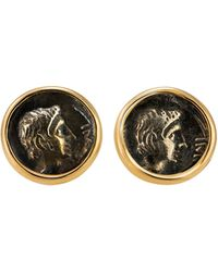 1884 Collection - Appia 18k Gold & Silver Ottaviano Stud Earrings - Lyst
