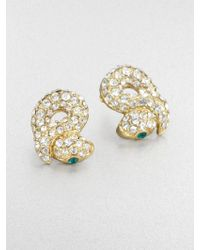 ABS By Allen Schwartz - Sparkle Snake Earrings - Lyst