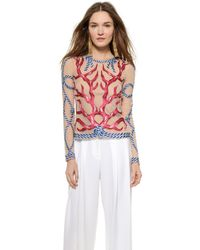 Temperley London Coral Toledo Top - Coral Mix - Lyst