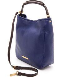 Marc By Marc Jacobs Soft Saddle Large Hobo Bag Black - Blue