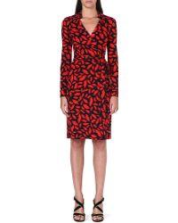 Diane Von Furstenberg New Jeanne Silk Wrap Dress Midnight Kiss - Lyst