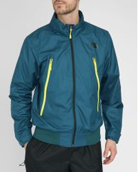 The North Face Blue Diablo Wind Jacket - Lyst