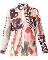 Burberry Prorsum Abstract Floral-print Shirt - Lyst