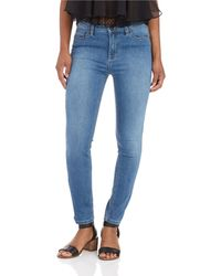 Free People Cane Cropped Hi Waist Jeans - Lyst