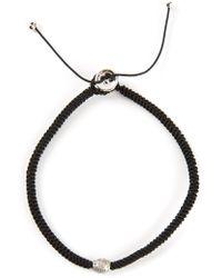 Luis Morais Diamond Detail Braided Bracelet - Lyst