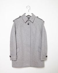 Isabel Marant Faber Double Faced Coat gray - Lyst