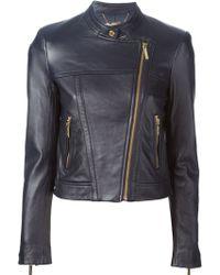 MICHAEL Michael Kors Cropped Biker Jacket - Lyst