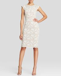 ABS By Allen Schwartz Dress - Cap Sleeve Lace - Lyst