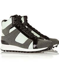 3.1 Phillip Lim Trance Leather and Suede High-top Sneakers - Lyst