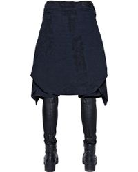 R13 Vedder Chambray Shorts & Leather Trousers - Black