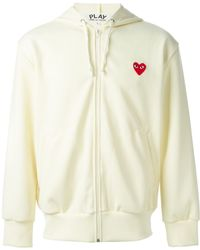 Comme Des Garçons Zipped Heart Emblem Hoodie - Lyst