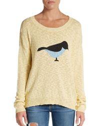 Pjk Patterson J. Kincaid Bird Burnout Cotton Sweater - Yellow