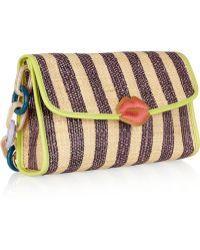 M Missoni Striped Raffia Shoulder Bag - Multicolor