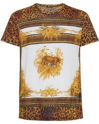 Balmain Leopard Motif T-shirt - Lyst