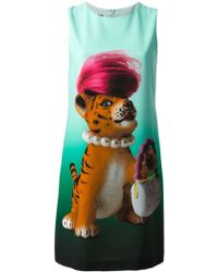 Moschino Cheap & Chic Printed Shift Dress - Lyst