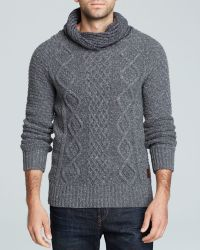 Scotch & Soda Cable-knit Shawl Collar Sweater - Lyst