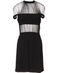 Christopher Kane Black Short Dress - Lyst