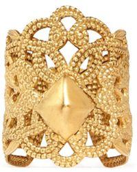 Ela Stone 'bucci' Lace Filigree Ring - Metallic