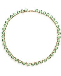 Ca & Lou Debutante Crystal Necklace/Green - Lyst