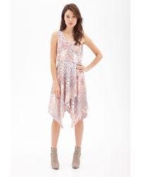 Forever 21 Asymmetric Printed Wrap Dress - Lyst