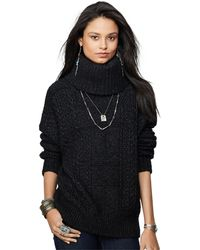 Denim & Supply Ralph Lauren - Cable-Knit Turtleneck Sweater - Lyst