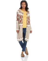 Free People Frosted Fair Isle Cardigan - Lyst