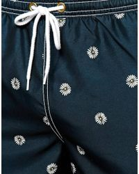 Jack Wills - Botanical Print Swim Shorts - Lyst