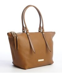Burberry Camel Leather Small Salisbury Tote - Lyst