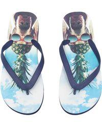 H&M Flip-Flops blue - Lyst