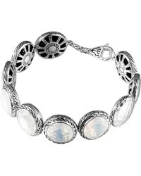 John Hardy Batu Silver Moon Quartz Disc Bracelet - Lyst