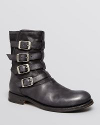 John Varvatos Collection Engineer Four-Buckle Boots - Lyst