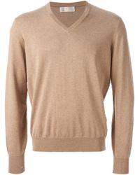 Brunello Cucinelli Marled Sweater - Lyst