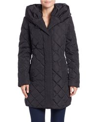 Gallery - Down Diamond-quilted Puffer Coat - Lyst