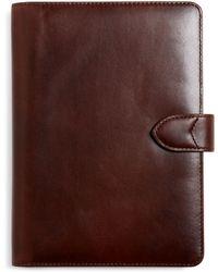 Brooks Brothers Distressed Leather Mini Ipad Case - Lyst
