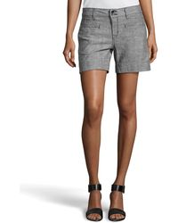 Fade To Blue Chambray Doublebutton Shorts - Lyst
