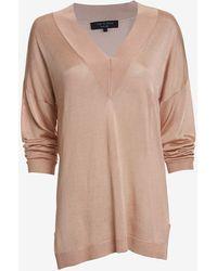 Rag & Bone Yvette V Neck Sweater - Lyst