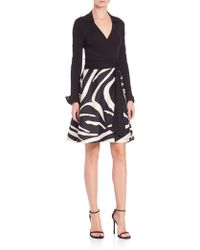 Diane von Furstenberg | Amelianna Printed Wrap Dress | Lyst