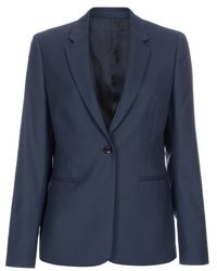 Paul Smith A Suit To Travel In - Slate Blue Wool Blazer